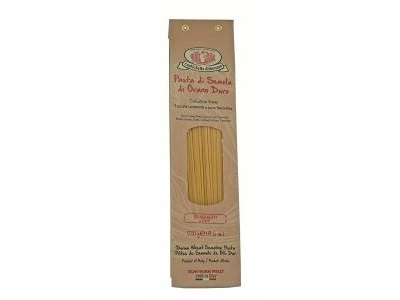SPAGHETTI <br><br>// Pasta di Semola di grano duro – Trafilata al Bronzo – 500 gr – Rustichella d'Abruzzo // <br><br>Mangi e Bevi <br><br>ITAABTE003.S006.A014